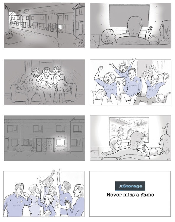from a series for 'XStorage' storyboards