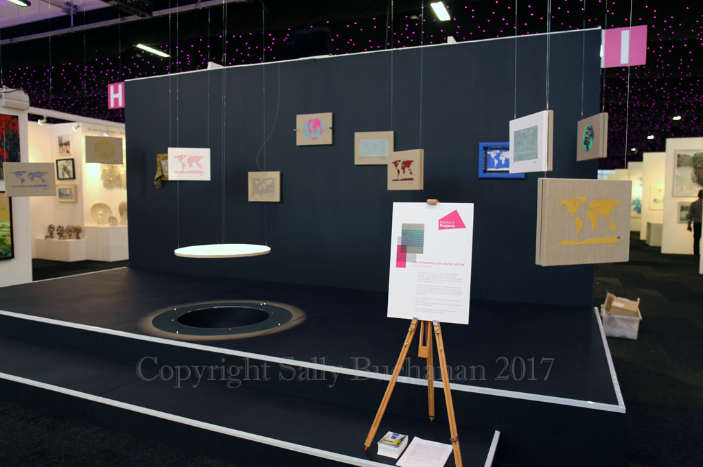 View of The Anthropocene platform at AAF Battersea March 2017