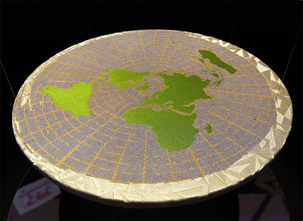 Anthropocene installation seen from above