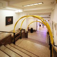 Left hand side wall of Acra Dei installation in Terarken Rooms starirwell at ACAF 2018