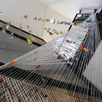 looking up into The Imaginary Friends and The First Stairwell Installation 4