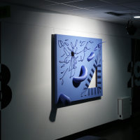 The thin Blue Line as displayed at The Freespace Gallery