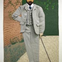 Victor Horta cartoon as displayed with Arca Dei at ACAF 2018