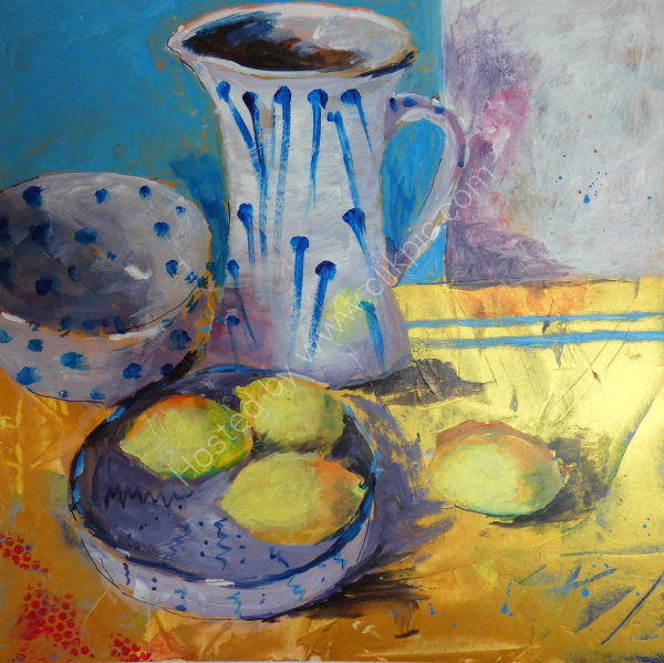 Pottery and Lemons - SOLD
