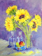 Sunflowers and Fruit - Oil