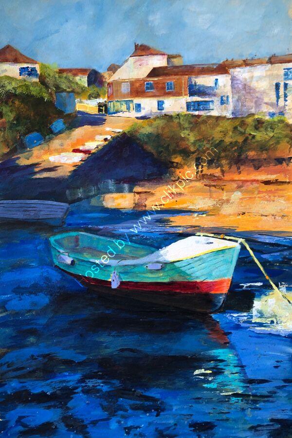 Turquoise Boat - Acrylic - 55 x 70