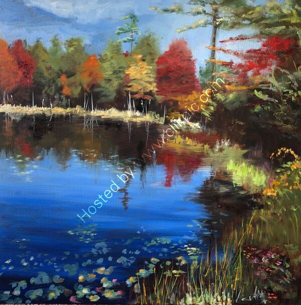 New England Colours - Oil on canvas - 50 x 50