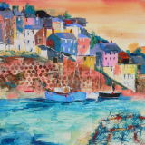 Fishing Boats in Cornwall - SOLD