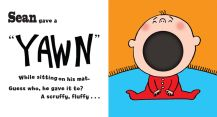 """Sean"" first spread for ""Yawn!"""