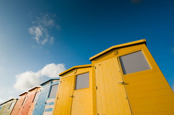 Beach huts at Seaford, Sussex