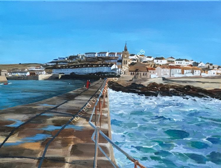 Blue sky over Porthleven