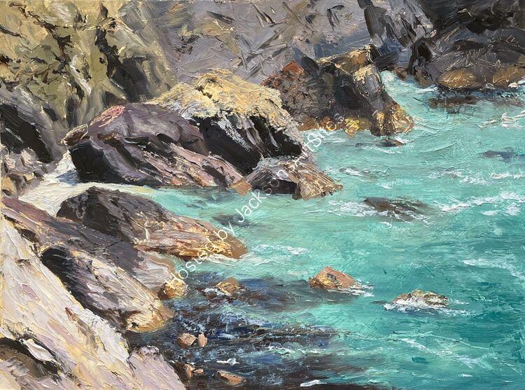 Turquoise Sea, nr Mullion
