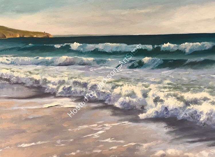Sunlit surf, Praa Sands