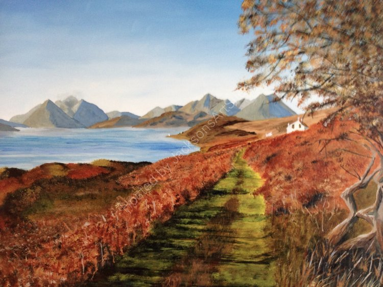 Autumn colour at Fearns, Isle of Raasay.