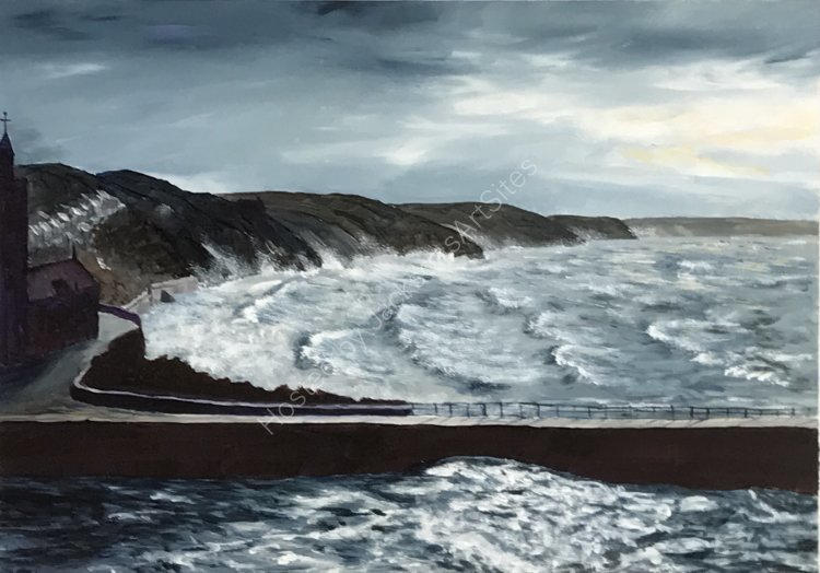 March Squall over Porthleven