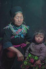 Grandmother and Child Sapa Vietnam