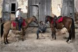 Julio and friend with their horses - Trinadad