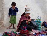 Woman and child at market - Tarabuco Peru