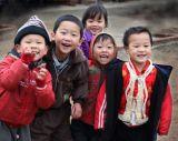 Children in a school in Vietnam duirng their breaktime