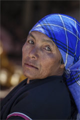 Lady in Mae Salong Market - Northern Thailand