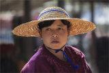 Market Stallholder in village just outside Yangoon