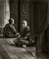 Young Monks in Wooden Temple
