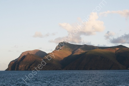 Sugarloaf from the sea, St Helena
