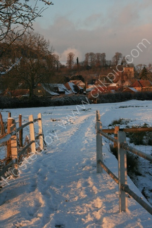 Parsonage Farm in Winter