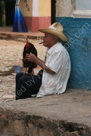 Man with Chicken, Trinidad