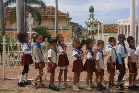 Schoolchildren in Trinidad