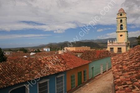 Rooftops in Trinidad, Cuba