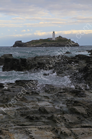 Godrevy Lighthouse at Dawn