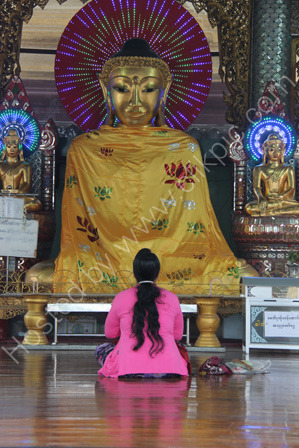 A devout Buddhist woman