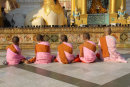 Buddhist Nuns at Shwedagon Pagoda