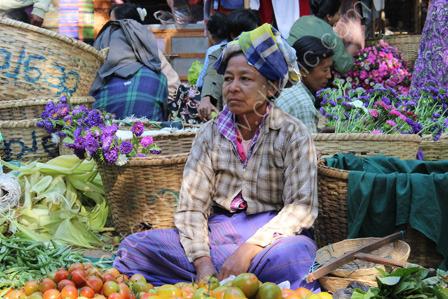 Market Seller near Bagan
