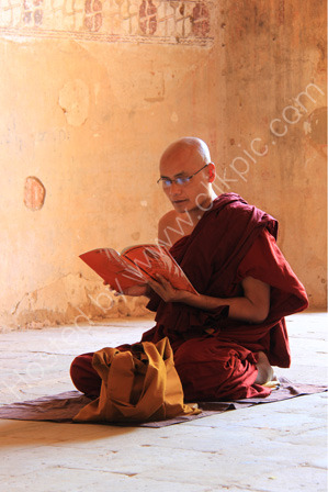 Monk Reading his Religious Text