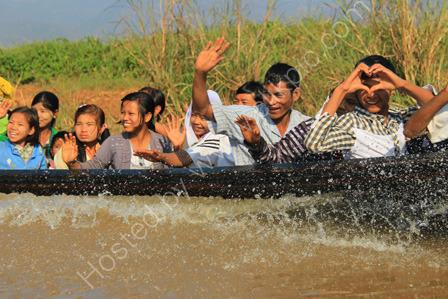 Friendly Burmese on Inle Lake
