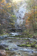 Vintgar Gorge in Autumn