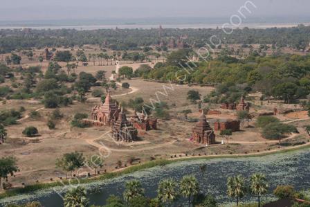 Bagan from a Hot Air Balloon