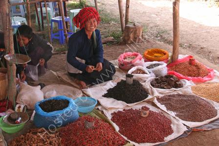 Pa-O woman in Market