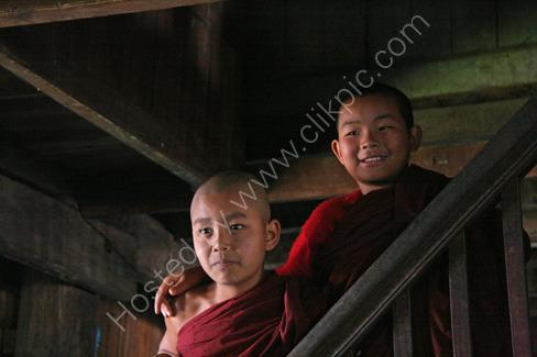 Novice Monks in Monastery