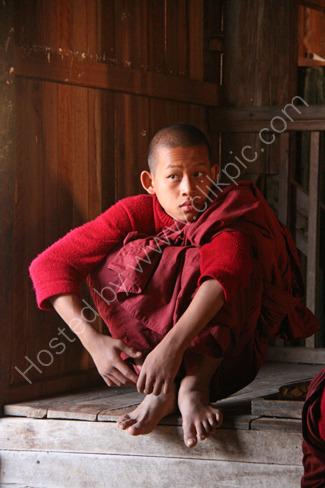Novice Monk in Monastery