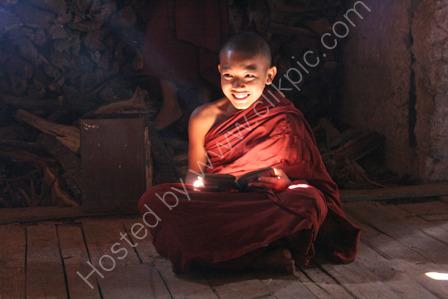 Novice Monk at Ywama Village