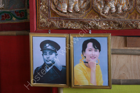 Portraits of two Burmese Icons