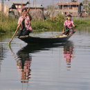Burmese Ladies on Inle Lake