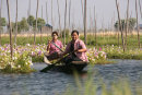 Burmese Ladies in Floating Flower Garden