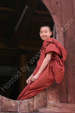 Novice Monk at Naung Shwe
