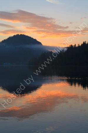 Sunrise over Lake Bled