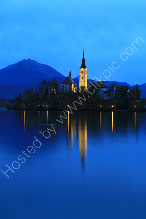 Church, Lake Bled at Dawn