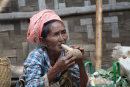 Burmese woman and Pipe